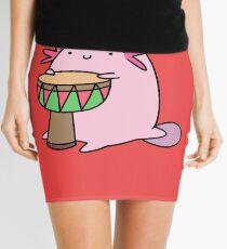 Axolotl Playing the Djembe Mini Skirt