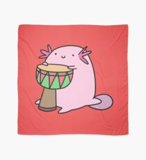 Axolotl Playing the Djembe Scarf
