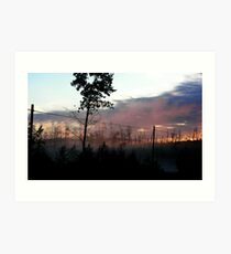 Northern Ontario Misty Sunrise Art Print
