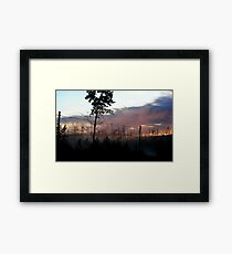 Northern Ontario Misty Sunrise Framed Print