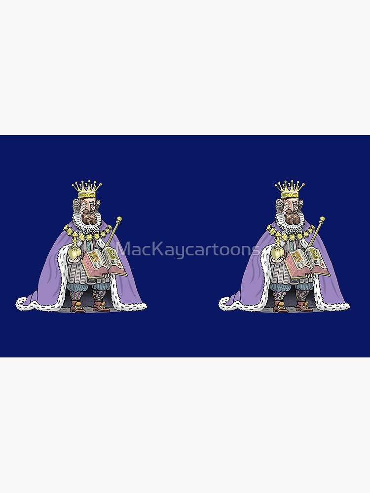 King James I of England by MacKaycartoons