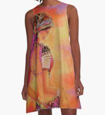 Swirl-3 A-Line Dress