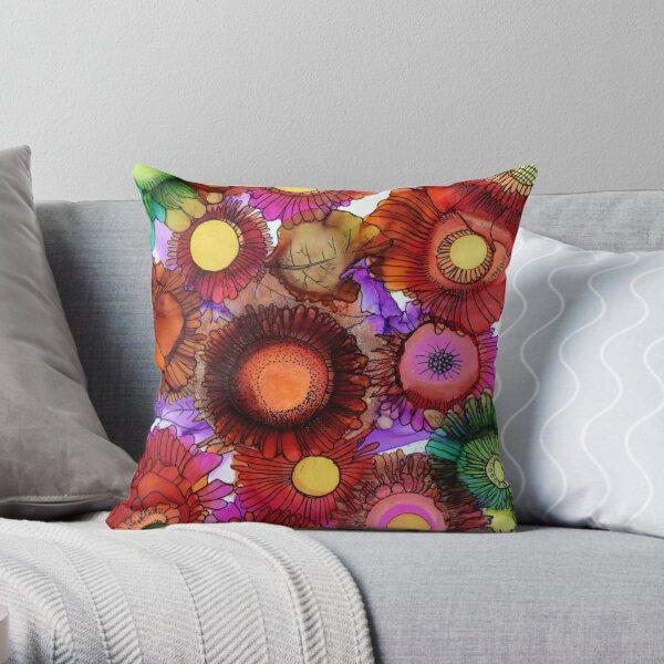 Gardenflowers Throw Pillow