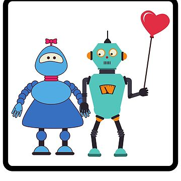 Funny Keep Calm and Love Robot Emoji Vintage Retro Costume by d180