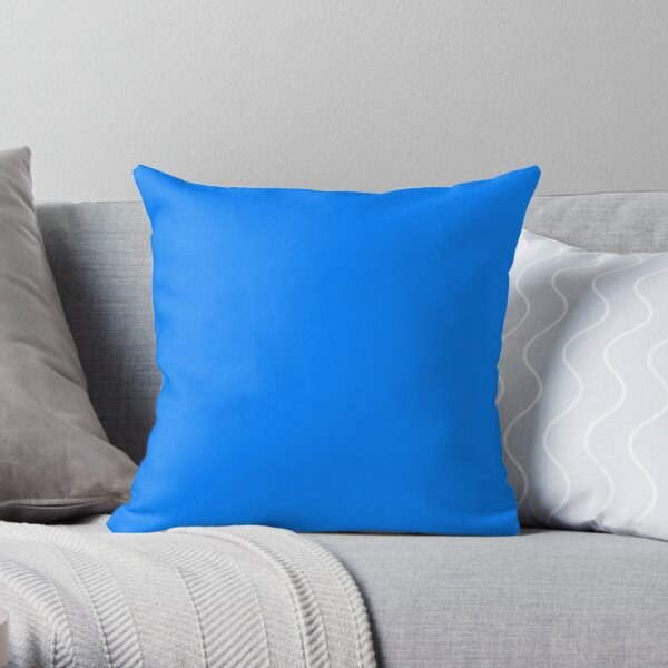 PLAIN SOLID AZURE BLUE - OVER 100 SHADES OF BLUE ON OZCUSHIONS  Throw Pillow