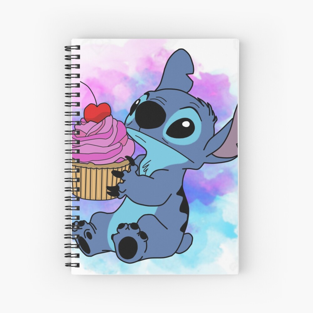 Stitch Cupcake Spiral Notebook