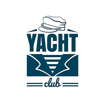 Yacht Club Badge With Hat by Chesnochok