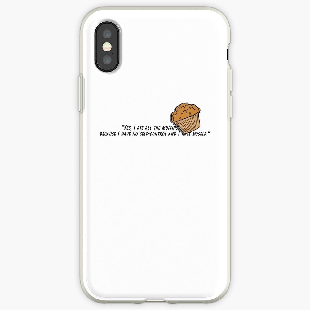 Bojack horseman muffin quote fan art iPhone Case & Cover