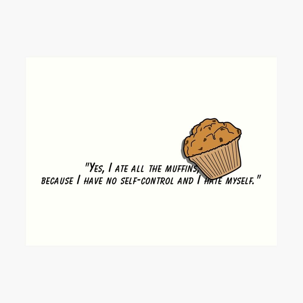 Bojack horseman muffin quote fan art Art Print