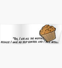 Bojack horseman muffin quote fan art Poster