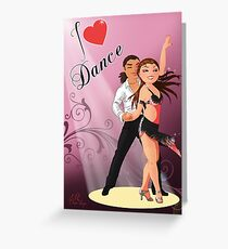 Latin dance Greeting Card