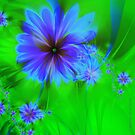 Fractal flowers No 003. - variation by Jo Newman