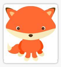 Fun Cute Cartoon Fox Sticker
