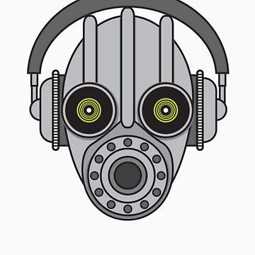 Gasmask Robot Head by liquidentity