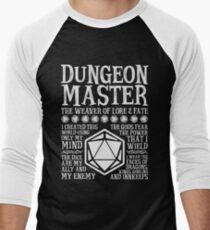 Dungeon Master, The Weaver of Lore & Fate - Dungeons & Dragons (White Text) Men's Baseball ¾ T-Shirt