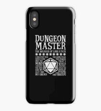Dungeon Master, The Weaver of Lore & Fate - Dungeons & Dragons (White Text) iPhone Case