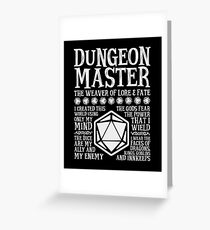 Dungeon Master, The Weaver of Lore & Fate - Dungeons & Dragons (White Text) Greeting Card