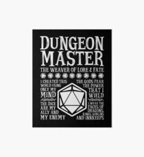 Dungeon Master, The Weaver of Lore & Fate - Dungeons & Dragons (White Text) Art Board
