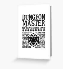 Dungeon Master, The Weaver of Lore & Fate - Dungeons & Dragons (Black Text) Greeting Card