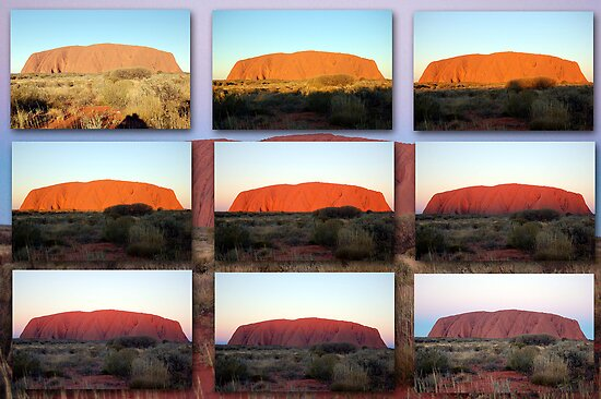 Quot The Changing Colours Of Uluru A Sunset Spectacular