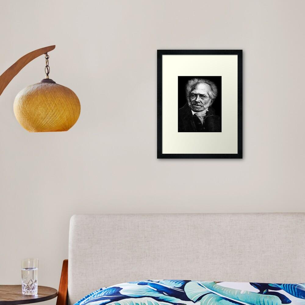 Arthur Schopenhauer Framed Art Print