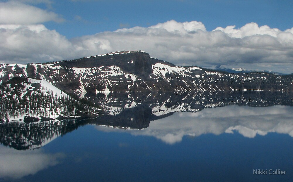 Crater Lake Reflection by Nikki Collier