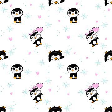 Penguin love by RoxysArtShop