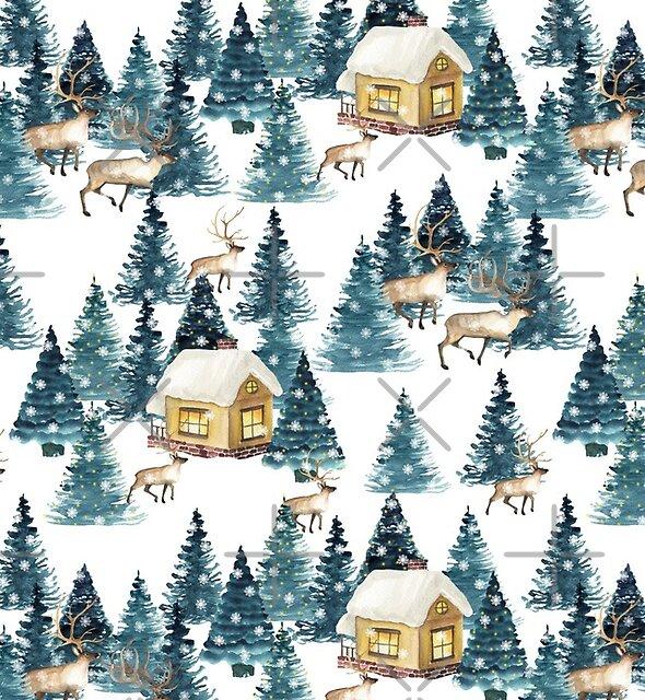 Winter village by JuliaBadeeva