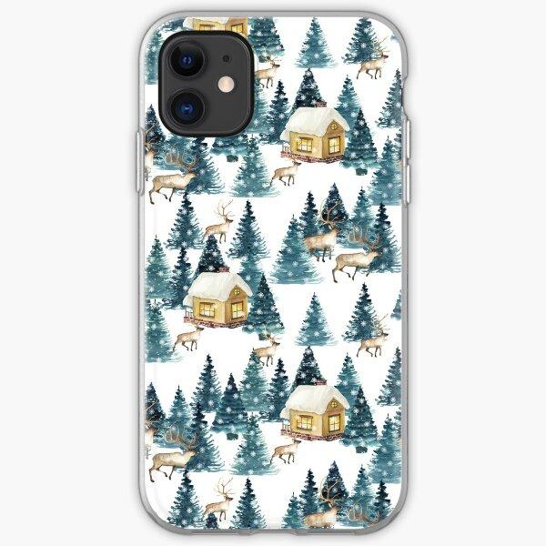 coque iphone 12 christmas village