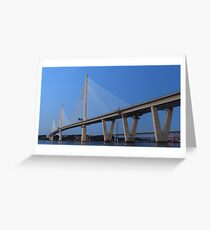 Queensferry Crossing in Panorama Greeting Card