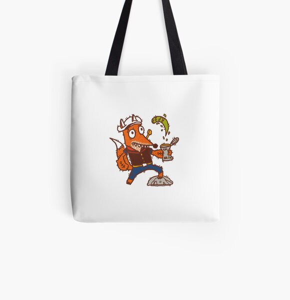 Popeye Fox All Over Print Tote Bag