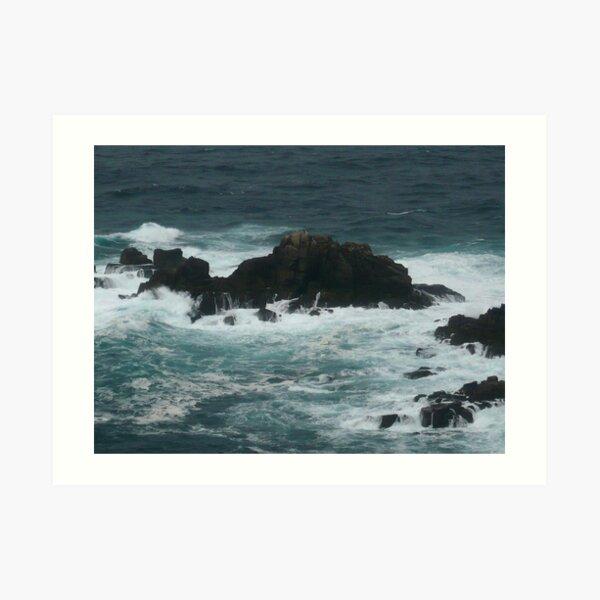 Rocks off Lands End Art Print