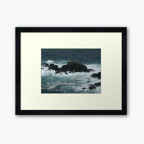 Rocks off Lands End Framed Art Print