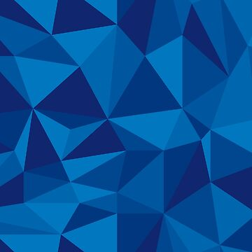Blue low poly pattern by DigitalShards