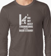 I do my best thinking on my deer stand T-Shirt