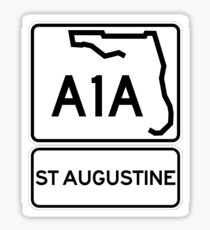 A1A - St Augustine, Florida Sticker
