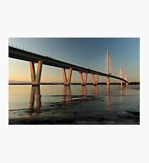 Queensferry Crossing at Sunset Photographic Print