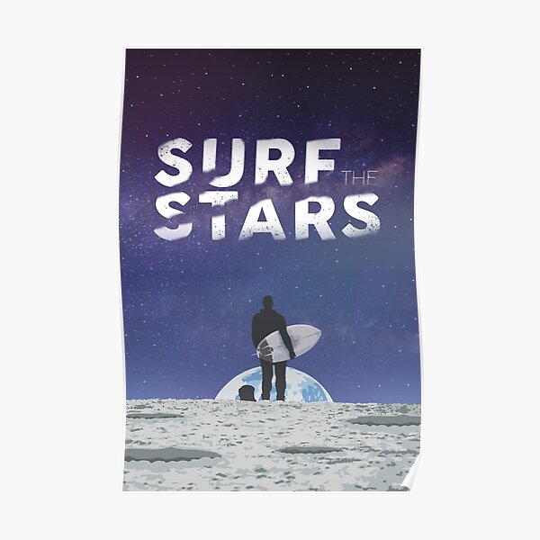 Surf The Stars Poster