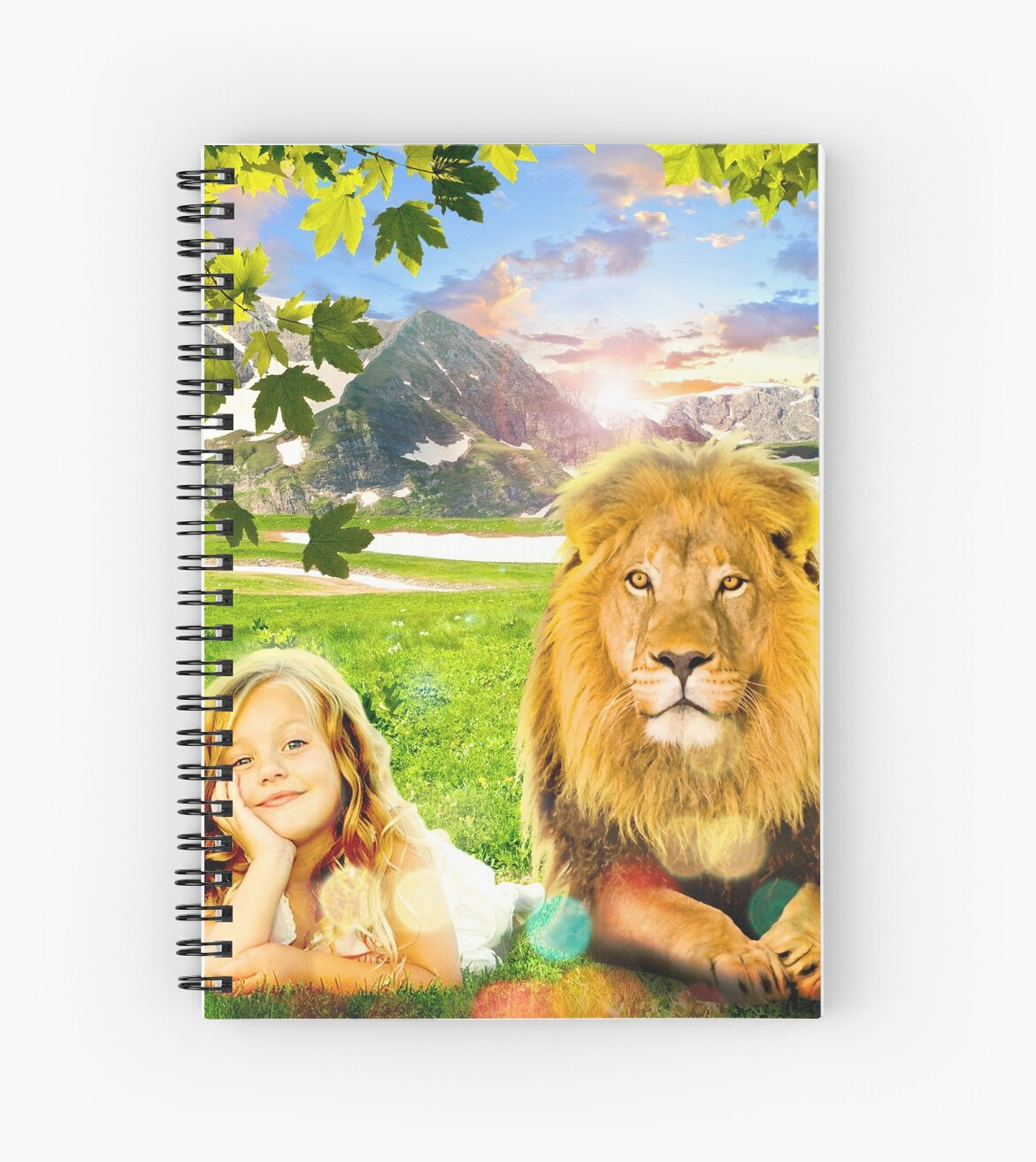 Just See Yourself (Girl and Lion) by JW ARTS & CRAFTS