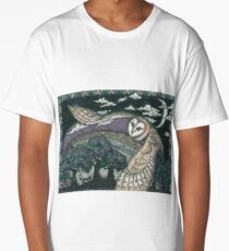 Barn Owl in Flight Long T-Shirt