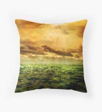 Sonnenstrahlen auf Teich Throw Pillow