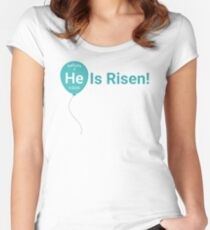 (He)lium Is Risen Women's Fitted Scoop T-Shirt