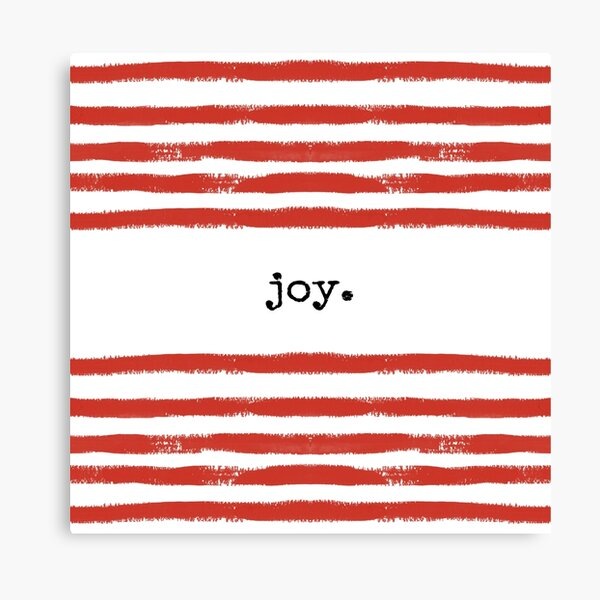 red stripe-joy Canvas Print