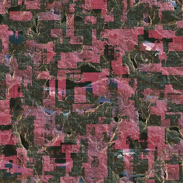 Abstract Urban Distorted Cubes Background Pink by A-DIMENSION