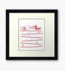 Santa Kong Framed Print