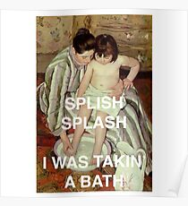 Mary Cassatt Taking a Bath  Poster