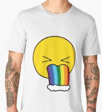Puke Rainbow Men's Premium T-Shirt