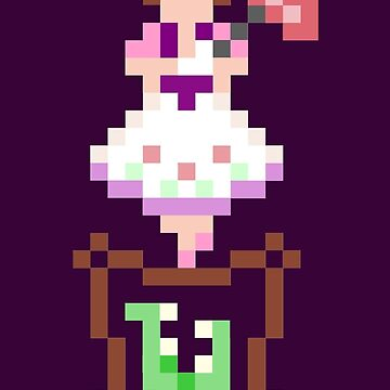 8-bit Haunted Mansion Tightrope Girl by luffans