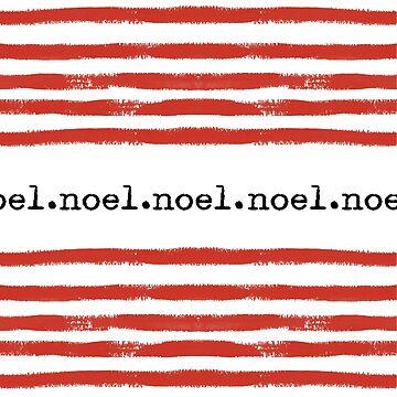 red stripes-noel by SylviaCook