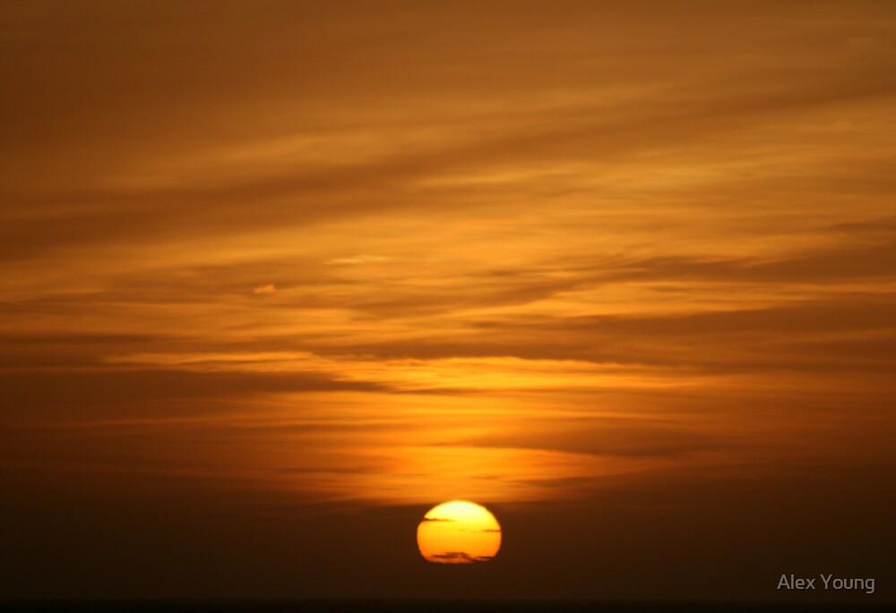 North Sea Sunset. by Alex Young